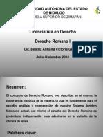Derecho Romano Personas Web