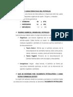Origen y Caracteristicas Del Petroleo