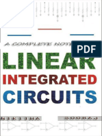 LINEAR INTEGRATED CIRCUITS Lecture Notes
