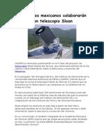 cientficos mexicanos colaborarn con telescopio sloan