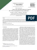 A Radiotracer Study of the Adsorption Behavior of Aqueous (SINTESIS NZVI)