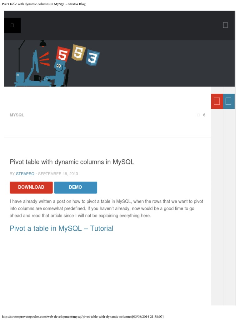 Pivot Table With Dynamic Columns in MySQL - Stratos Blog