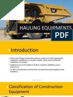 HAULING EQUIPMENT- TRUCKS