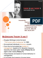 Theory X and Theory Y Presentation on 05082014