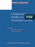 Comparative Studies in Germanic Syntax (Linguistik Aktuell 97)