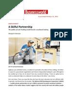 A Skilful Partnership - NSDC