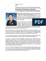 HKSE-Listed Heng Fai Enterprises Appoints Dr. Lam, Lee G. As Vice Chairman & Non-Executive Director