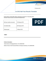 2013_02_07 - Half Year Results and Dividend Timetable