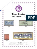 Stamp Auction to be Held on 17th Aug'14 in the UK - TonyLester