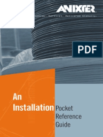 12H0005X00 Anixter Installation Pocket Reference Guide BOOK W&C en US