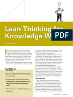 Lean Knowledge Worker