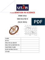 Cover of Practical Report Mechanics-May 2011