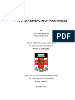 Shear Strength of Rock