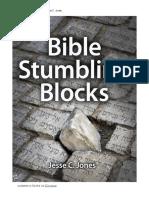 Bible Stumbling Blocks by Jesse C. Jones