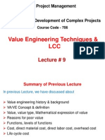 Value Engineering Techniques & LCC Methods