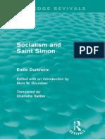 Sociology and Saint Simon by Émile Durkheim