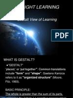 1 Gestalt Learning