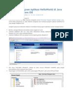 Membuat Program Aplikasi HelloWorld Di Java Dengan NetBeans IDE