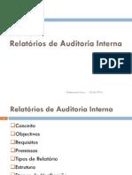 Relatórios de Auditoria Interna