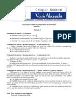 Mate.info.Ro.2548 TEST Pentru Verificarea Competentelor - Clasa a IV-A