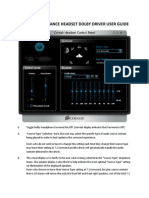 Corsair Vengeance Headset Dolby Driver User Guide