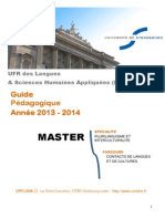 Guide Pedagogique Du Master Contacts de Langues de Cultures Ajout24.03