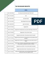 Index Standar SNI