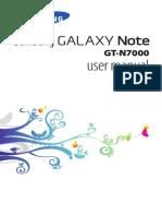 Galaxy Note User Manual GT-N7000
