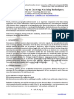 Literature Survey on Ontology Matching Techniques