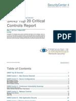 SANS Top 20 Critical Controls Report