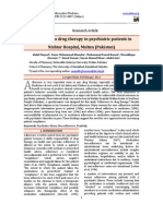 Adherance to Drug Therapy in Psychatric Patients