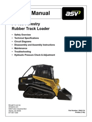 asv pt100 forestry service manual loader (equipment 49Cc Scooter Wiring Diagram