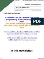 July 2014 Cheadle Jazz Guitar Club Newsletter