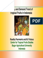 Supply and Demand Trend of Tropical Fruits in Indonesia
