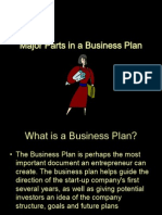 Major Parts in a Business Plan