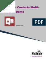 Desktop Contacts Multi-Lingual Demo