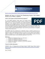 21 CFR Part 211 - Equipment Design & Manufacture CGMP Guidelines