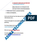 2015-16 Latest BTech, MTech IEEE projects for EEE, Power Electronics, Power Systems using MATLAB/SIMULINK