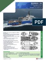 SSV BOURBON Seismic Support Vessel Technical Details