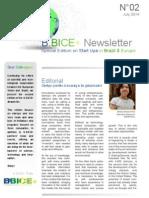 B.BICE+ Newsletter - N°2 July/August 2014