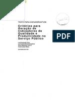 Critérios para Geração de Indicad. Qualid.e Produtiv. Serviço Público, IPEA, 1991 - td_0238.pdf