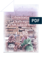 Urbanization Challenges in Sub-Saharan Africa