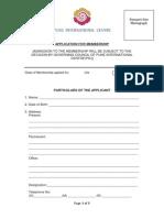 Application for Membership Life