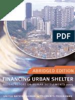 Financing Urban Shelter (Abridged Edition)