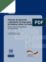 Visiones de Desarrollo y Planeación de Largo Plazo en América Latina y el Caribe