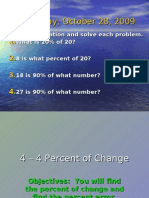 4-4 Percent of Change