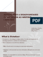 Advantages & Disadvantages of Dictation as Writing Exercises