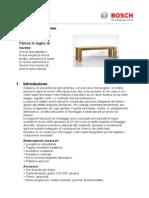 Panca in Legno Di Rovere 83816