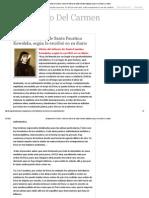 Escapulario Del Carmen_ Visión Del Infierno de Santa Faustina Kowalska, Según Lo Escribió en Su Diario