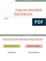 Pengenalan Bahasa Indonesia
